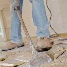 Removing ceramic tile is not easy!