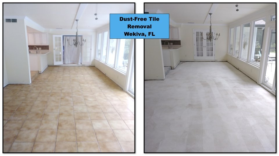 Tile removal in a Wekiva home