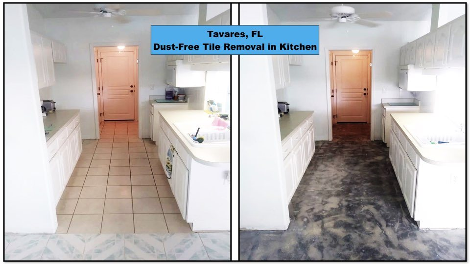 A kitchen in Tavares got tile removed to get a beautiful new look.
