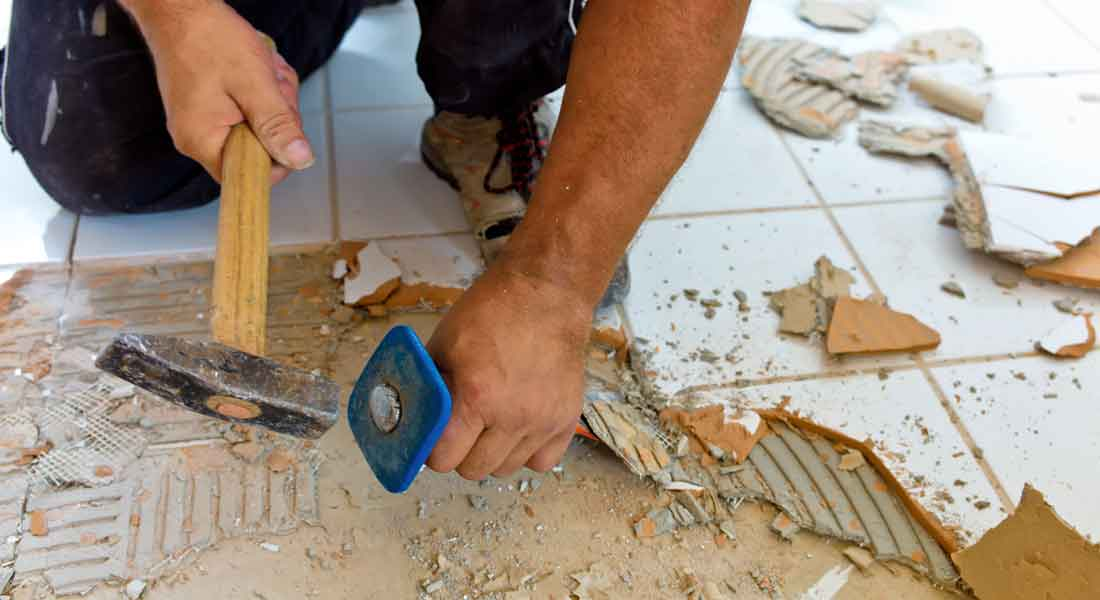 How To Remove Tile From Concrete Floor Central Florida